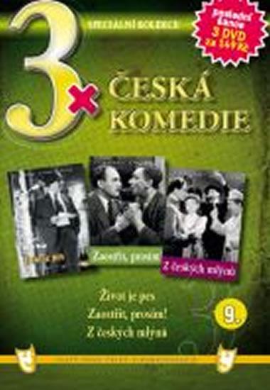 3x DVD - Česká komedie 9. - neuveden - 14,9x21