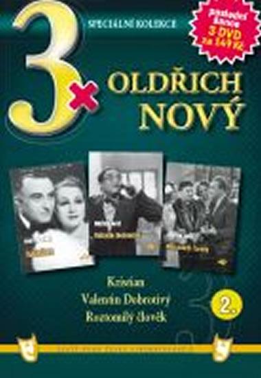 3x DVD - Oldřich Nový 2. - neuveden - 14,9x21