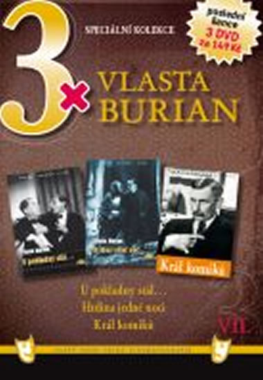 3x DVD - Vlasta Burian VII. - neuveden - 14,9x21