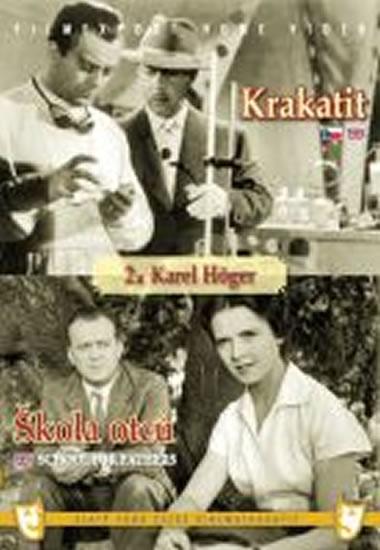 Krakatit/Škola otců - (2 filmy na 1 disku) - DVD box - neuveden - 13,5x19