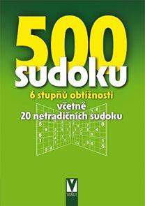 500 sudoku - 6 stupňů obtížnosti včetně 20 netradičních sudoku (zelené)