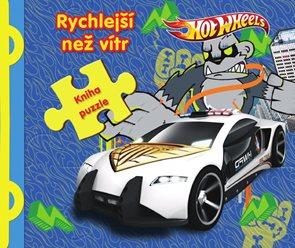 Hot Wheels Rychlejší než vítr - Kniha puzzle
