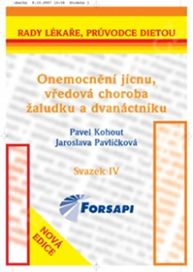 Onemocnění jícnu, vředová choroba žaludku a dvanáctníku - Kohout Pavel, Pavlíčková Jaroslava, - 13,5x20,5