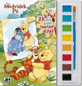 Medvídek Pú - Omalovánky s barvami A4