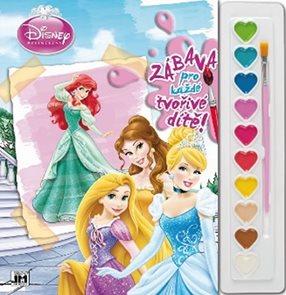 Princezny - Omalovánky s barvami A4